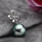 Free Shipping high quality 925Sterling Silver Guarantee100% Shell beads pendant scarf necklace N046