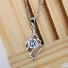 Free Shipping high quality 925Sterling Silver Guarantee100%Angel's Feather Necklace N052