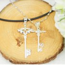 Free Shipping high quality 925Sterling Silver Guarantee100% Cross Angel Necklace N061