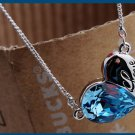 Free Shipping high quality 925Sterling Silver Guarantee100%  Restless heart necklace N072