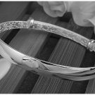 Free Shipping high quality 925Sterling Silver Guarantee100% Minimalist glossy Bracelet B042