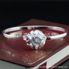 Free Shipping high quality 925Sterling Silver Guarantee100% Big roses Bracelet B050