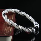 Free Shipping high quality 925Sterling Silver Guarantee100% Twisted mesh Bracelet B054