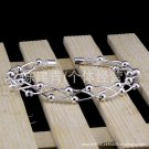 Free Shipping high quality 925Sterling Silver Guarantee100% Small beads fashion Bracelet B056