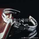Free Shipping high quality 925Sterling Silver Guarantee100% LOVE bracelet cute frosted Mickey B066