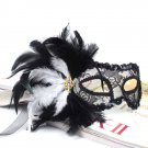 Free Shipping High Quality Guarantee100% A++++++ Translucent Feather Mask Feather Dance011