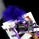 Free Shipping High Quality Guarantee100% A+++PartyFestivalStageButterflyGold Bus MaskFeatherFluff013
