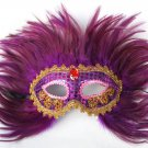 Free Shipping High Quality Guarantee100% A++++++Feather Mask Sequins Embroidery023