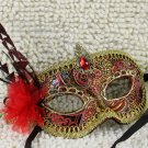 Free Shipping High Quality Guarantee100% A++++++Handmade Flower Party Mask Feather Yarn031