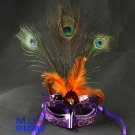 Free Shipping High Quality Guarantee100% A++++++Prom Painted Peacock Feather Mask033