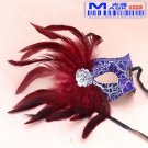 Free Shipping High Quality Guarantee100% A++++++New Prom Hair Mask Feather Flat Cephalic041