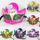 Free Shipping High Quality Guarantee100% A++++++Flames Painted Mask Dance Party Supplies050