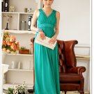 Chiffon  Ankle-Length Solid Party Dress Ladies  Elastic  Bridesmaids Clothing Slim