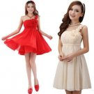 Classic One-Shoulder Flowers Party Dress A-Line   Women Clothes Prom Best Selling