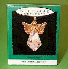 Hallmark Rare 1993 Crystal Angel Precious Edition Miniature Ornament