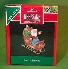 Hallmark 1990 Santa's Journey Miniature Ornament