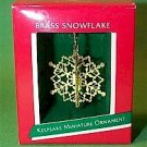 Hallmark 1989 Brass Snowflake Miniature Ornament