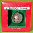 Hallmark 1988 Happy Santa Miniature Ornament