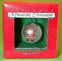 Hallmark 1988 Happy Santa Miniature Ornament