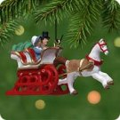Hallmark 2001 Dashing Through The Snow Miniature Ornament