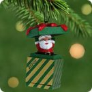 Hallmark 2001 Santa In A Box Miniature Ornament