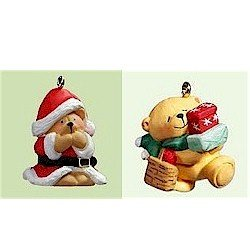 Hallmark Forever Friends Series Complete Set of 2 Miniature Ornaments