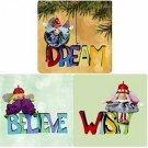 Hallmark Paintbox Pixies Series Complete Set of 3 Miniature Ornaments