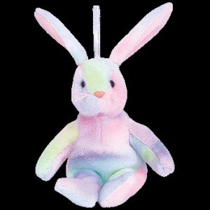 Ty Basket Beanie Baby Hippie the Easter Bunny Retired