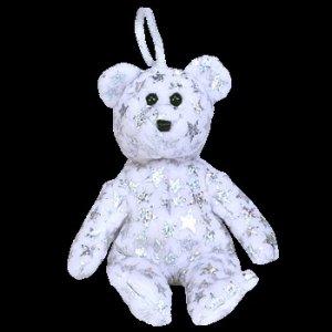 Ty Jingle Beanie Baby The Beginning Bear Retired Christmas