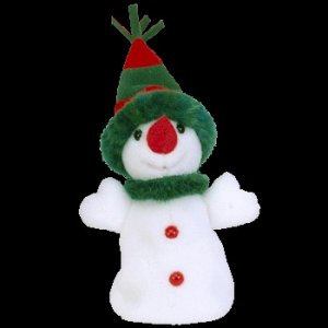 Ty Jingle Beanie Baby Snowgirl Christmas Snowman Retired