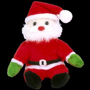 Ty Jingle Beanie Baby Santa the Jolly Christmas Elf Retired