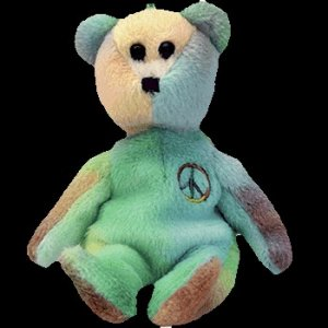 Ty Jingle Beanie Baby Peace the Christmas Bear Retired