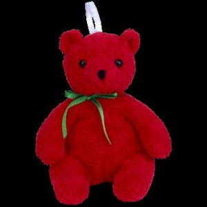 Ty Jingle Beanie Baby Mistletoe the Christmas Bear Retired