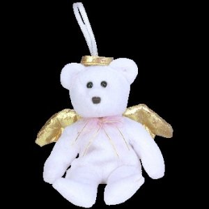 Ty Jingle Beanie Baby Halo II the Christmas Bear Retired