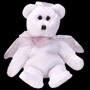Ty Jingle Beanie Baby Halo the Christmas Bear Retired