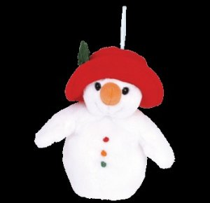 Ty Jingle Beanie Baby Chillin the Christmas Snowman Retired