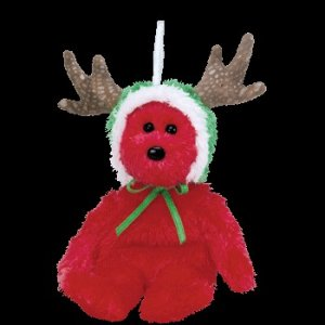 Ty Jingle Beanie Baby 2002 Holiday Teddy the red Christmas Bear Retired