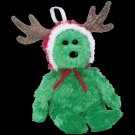 Ty Jingle Beanie Baby 2002 Holiday Teddy the green Christmas Bear Retired