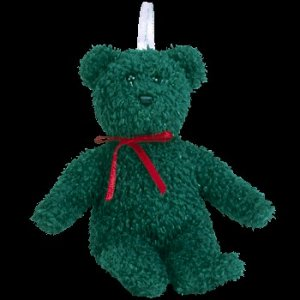 Ty Jingle Beanie Baby 2001 Holiday Teddy the Christmas Bear Retired