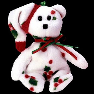 Ty Jingle Beanie Baby 1998 Holiday Teddy the Christmas Bear Retired