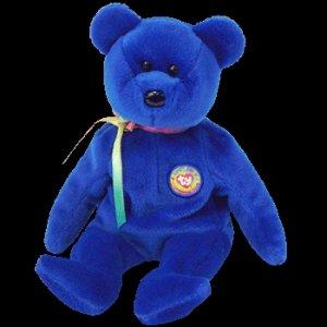Clubby the Bear 1st Ty Beanie Baby Retired