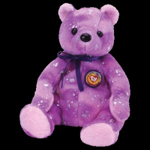 Clubby VI 6 the Bear Purple Ty Beanie Baby Retired