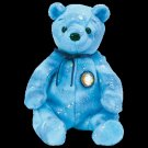 Clubby VI 6 the Bear Blue Ty Beanie Baby Retired
