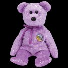 Decade the Bear Purple Ty Beanie Baby Retired