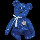 Decade the Bear Royal Blue Ty Beanie Baby Retired