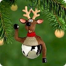 Hallmark 2000 Reindeer Christmas Bells Series Miniature Ornament