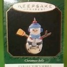Hallmark 1997 Snowman Christmas Bells Series Miniature Ornament