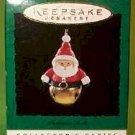 Hallmark 1996 Santa Christmas Bells Series Miniature Ornament
