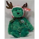 2002 Holiday Teddy Bear Ty Beanie Baby Retired Christmas