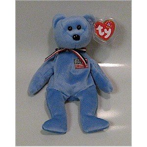 America the Blue 9-11 Bear Ty Beanie Baby Retired USA